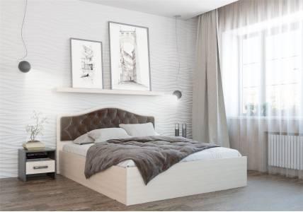 Кровать Дели каркас (1,4) велюр шоколад