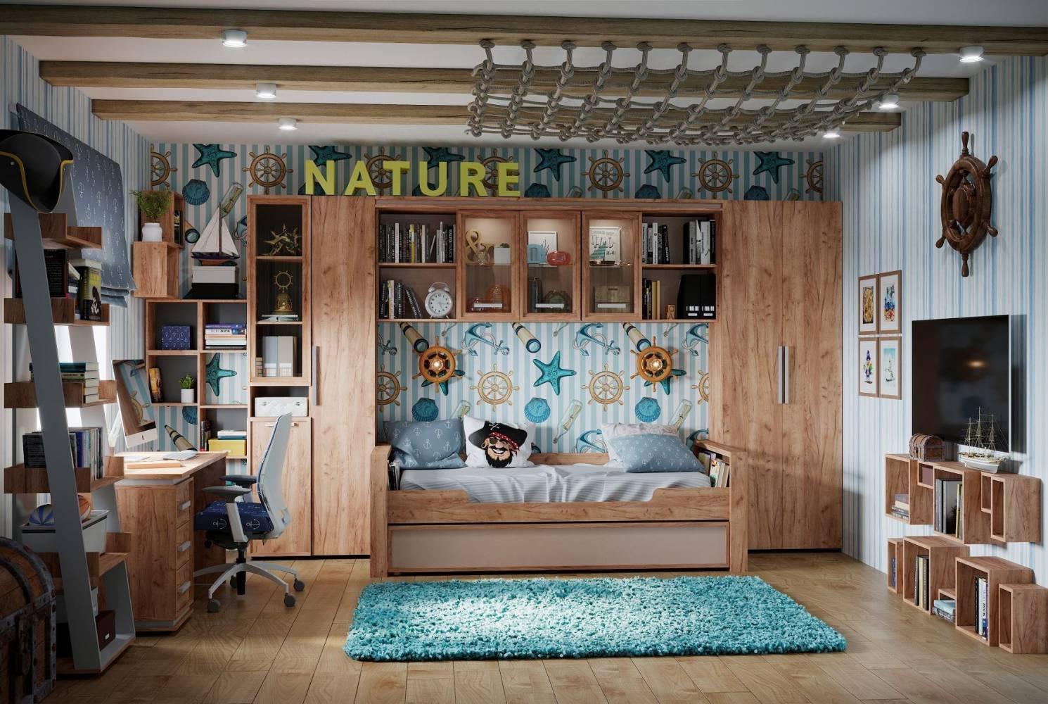 Молодежная комната NATURE. Комплект 2
