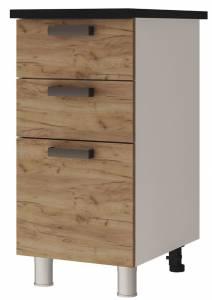 4Р3 Шкаф-стол с 3-мя ящиками Крафт