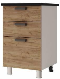 5Р3 Шкаф-стол с 3-мя ящиками Крафт