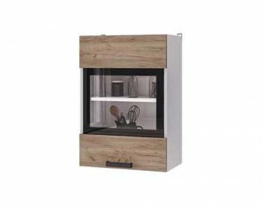 5В2 Шкаф настенный 1-дверный со стеклом Крафт