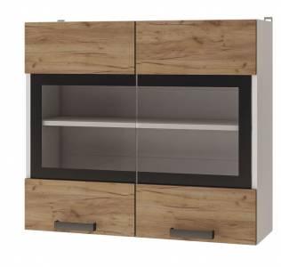 8В2 Шкаф настенный 2-дверный со стеклом Крафт
