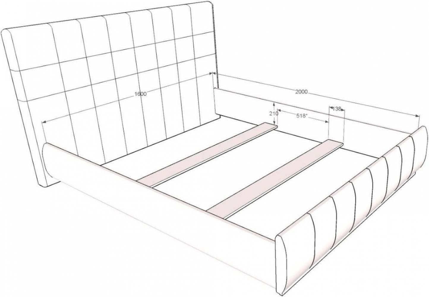 Кровать Лорена 160*200 (без страз) + орт.основание 160