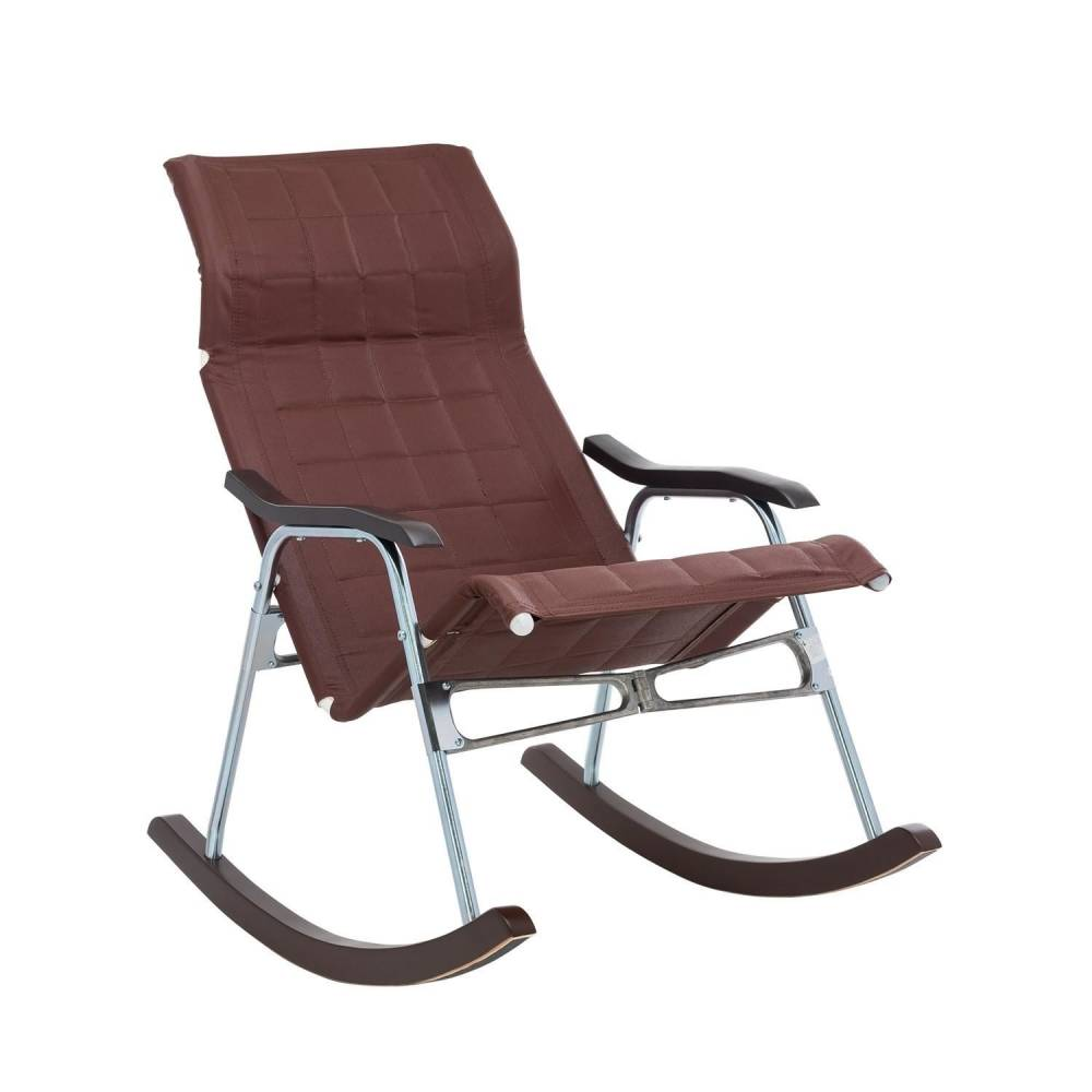 """Кресло-качалка складная """"Белтех"""", к/з коричневый"""