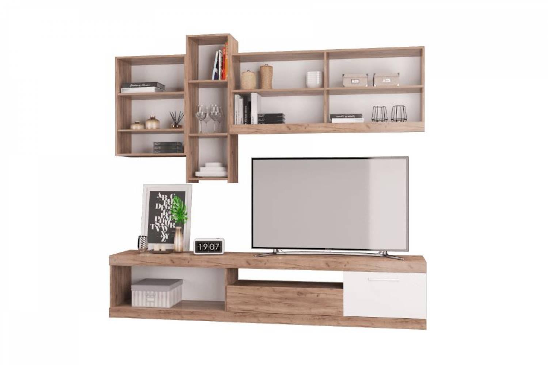 Набор мебели в гостиную Невада дуб крафт табак/белый. Комплект