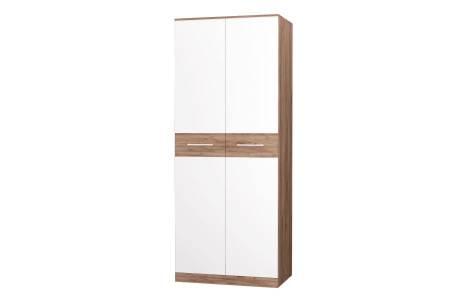 Шкаф для одежды Невада дуб крафт табак/белый