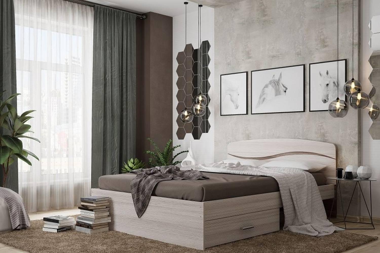 Кровать Валенсия 1400 св.яс/темн.яс
