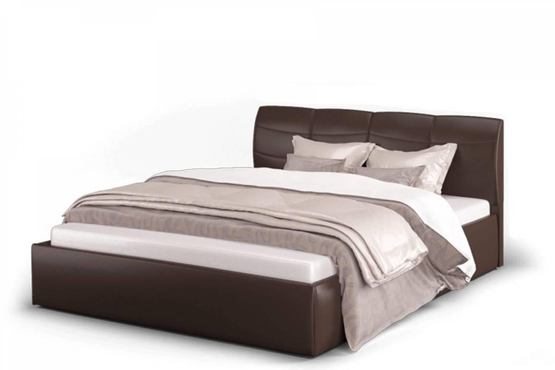 Кровать Ривьера 1600 экокожа Лесмо brown