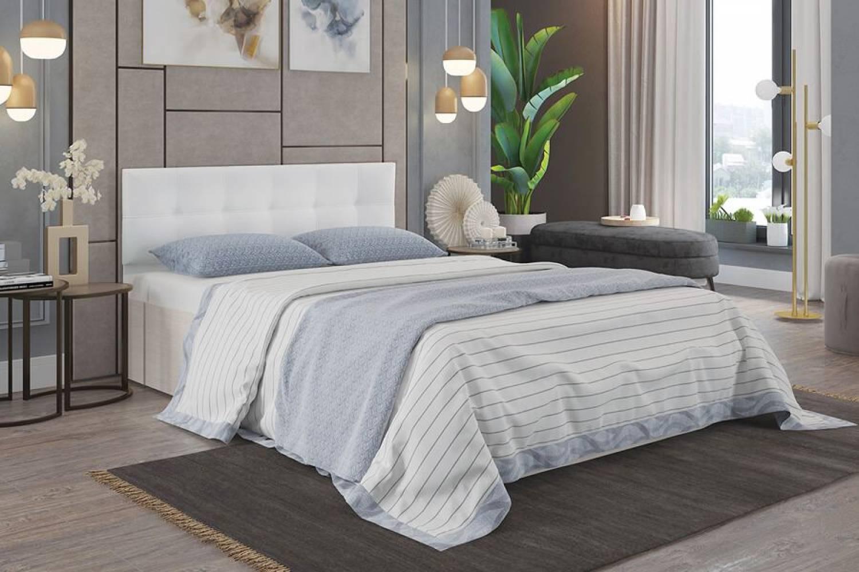 Кровать Селена 1400 дуб атланта/экок.vega white