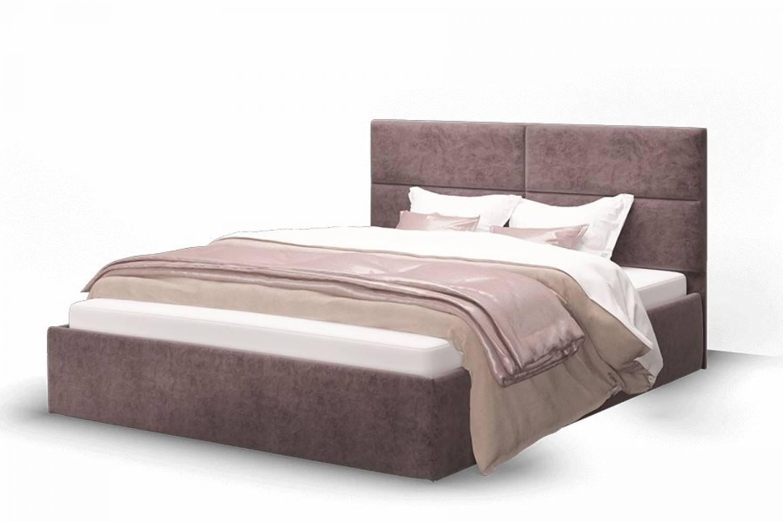 Кровать Сити 1400 ткань ROCK 12/серо-фиолетовый без основания