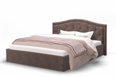 Кровать Стелла 1400 ткать ROCK 05/коричневый
