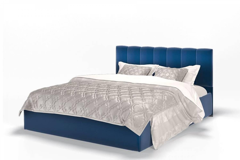 Кровать Элен 1200 ткань Энигма/синий