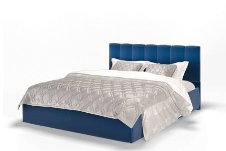 Кровать Элен 1400 ткань Энигма/синий