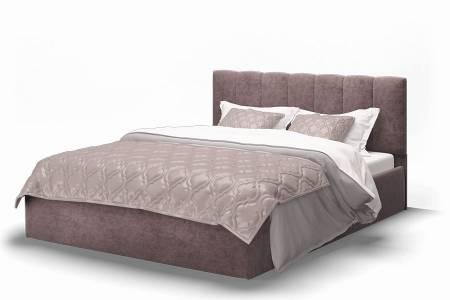 Кровать Элен 1400 ткань ROCK 12/серо-фиолетовый