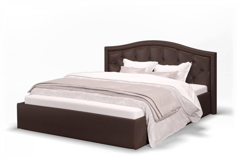Кровать Элен 1600 экокожа Лесмо brown