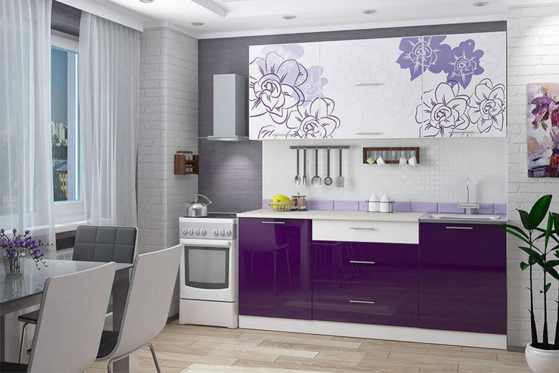 Гарнитур кухонной мебели Бордо-виолет 1,8 накл.мойка