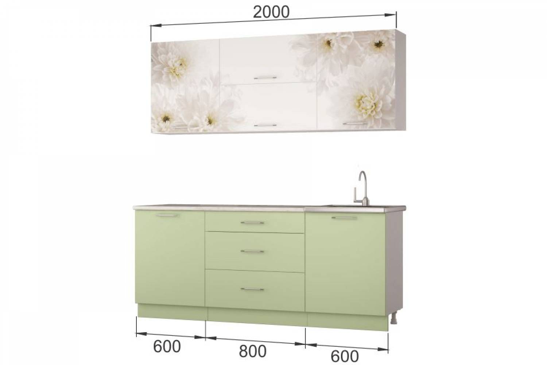 Гарнитур кухонной мебели Флоренс 2,0 накл.мойка