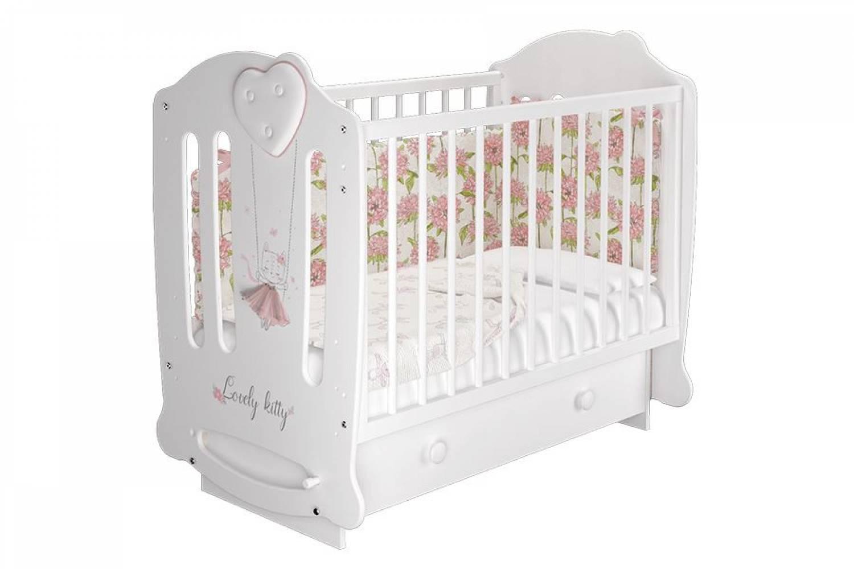 Кровать деревянная детская Николь базовая белый