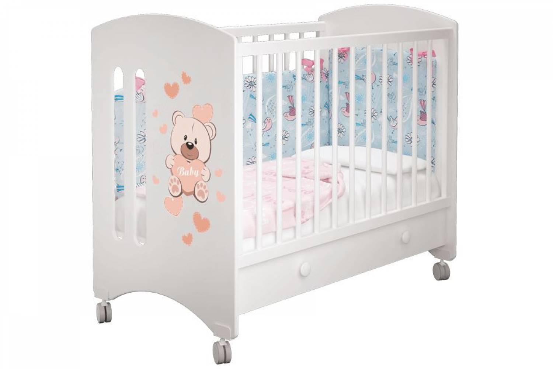 Кроватка детская Софи 1 Кроха Панда ящик