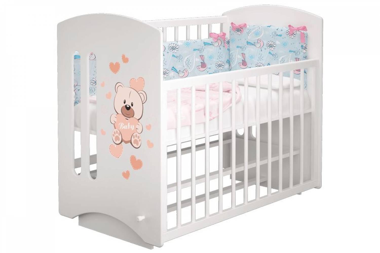 Кроватка детская Софи 2 Мишка Бэйби маятник
