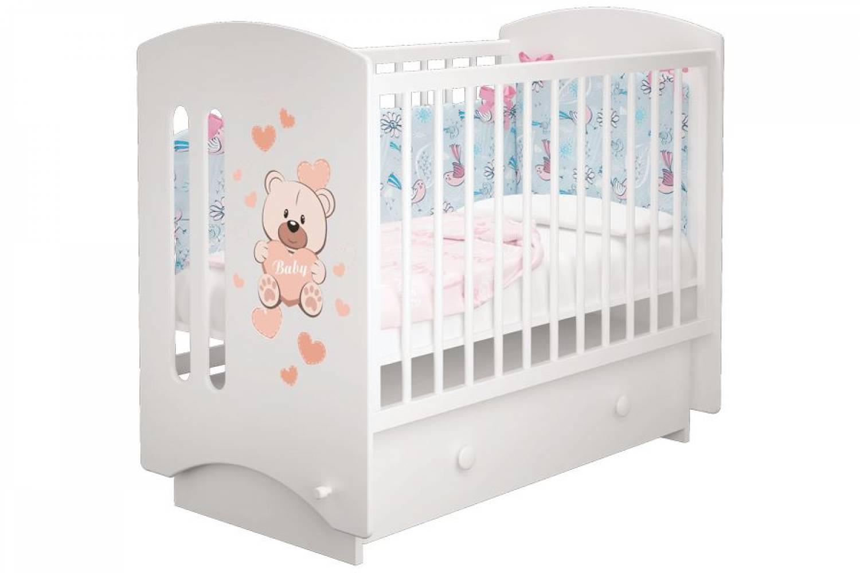Кроватка детская Софи 3 Мишка Бэйби маятник + ящик