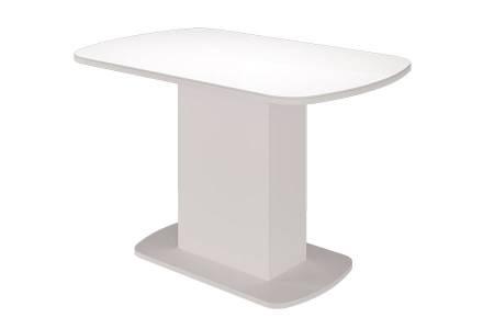 Стол обеденный Соренто-Белый глянец
