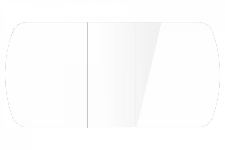 Стол раздвижнойБостон-3 Белый глянец с цельной вставкой 1100*700 опора брифинг