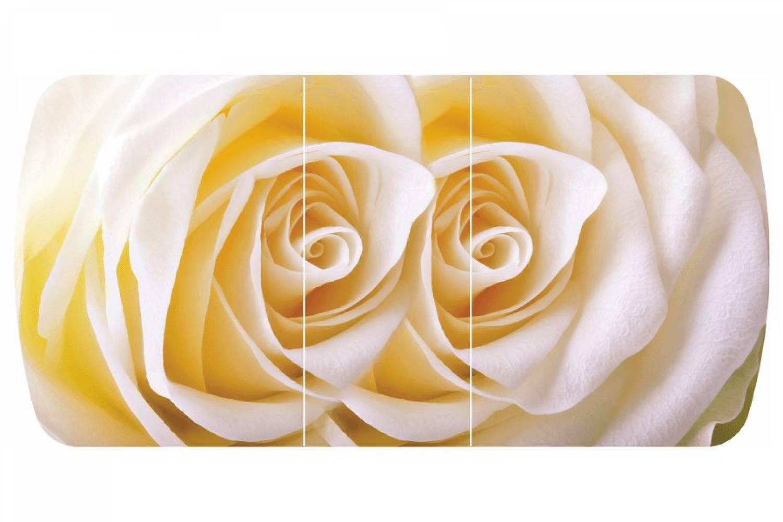 Стол раздвижнойБостон-3 Чайная роза с цельной вставкой 1100*700 опора брифингфотопечать