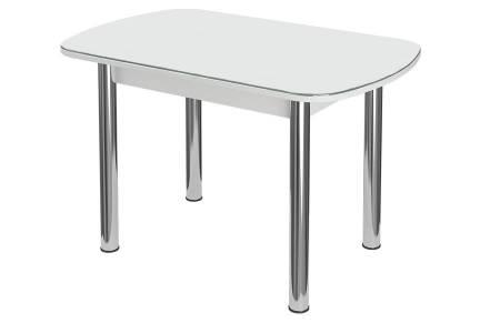 Стол раздвижнойБостон-3 Лайм с цельной вставкой 1100*700 опора брифингфотопечат