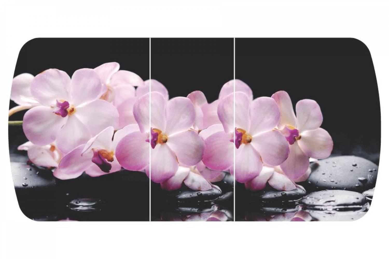 Стол раздвижнойБостон-3 Розовая орхидея  с цельной вставкой 1100*700 опора брифингфотопечать