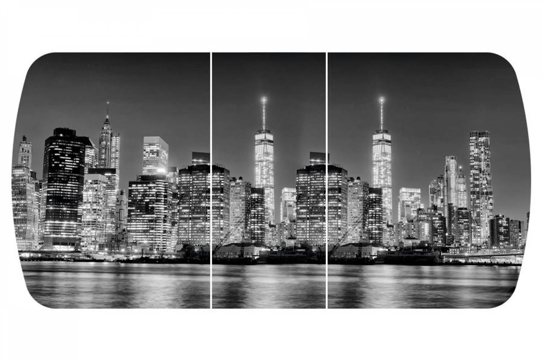 Стол раздвижнойБостон-3 Сити с цельной вставкой 1100*700 опора брифингфотопечат