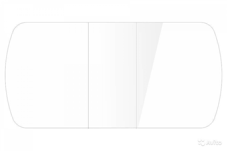 Стол обеденный Бостон-2 Белый глянец 1100*700ов.опора триумф