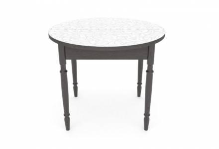 Стол раздвижной круглый Лоза серебряная (пластик 1 кат)
