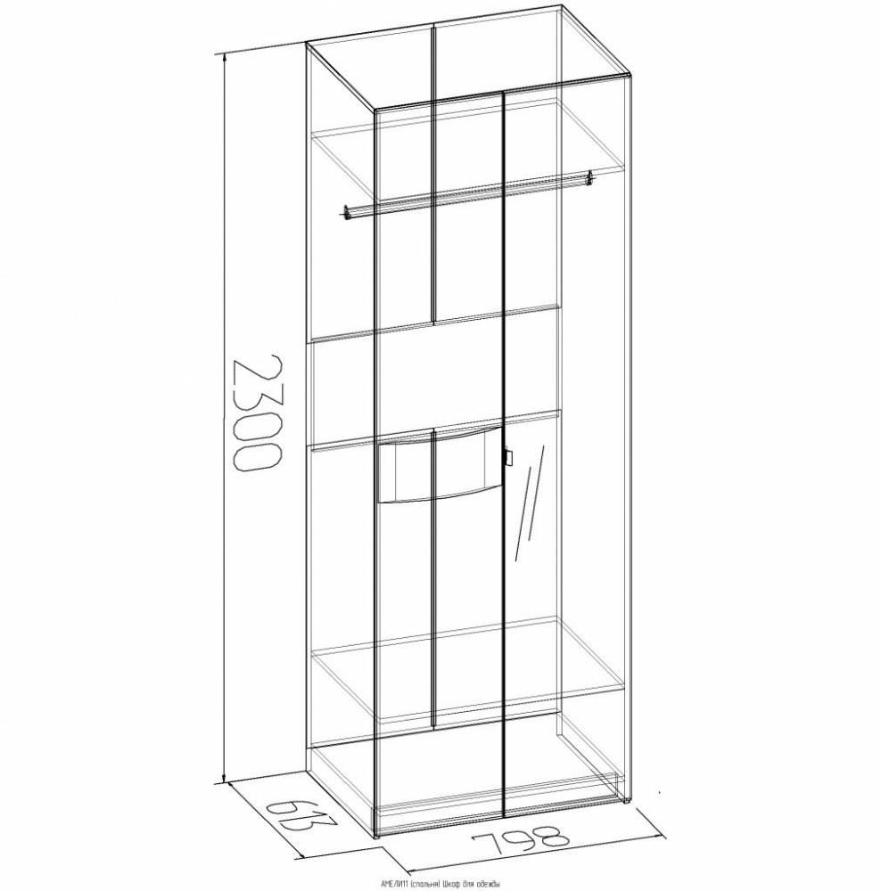 АМЕЛИ 11 Шкаф для одежды