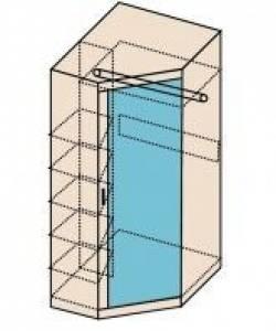 Ника Мод. Н7 Шкаф угловой с зеркалом (собирается на обе стороны)