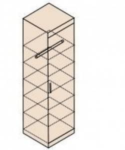 Ника Мод. Н8 Шкаф для одежды и белья  (собирается на обе стороны)