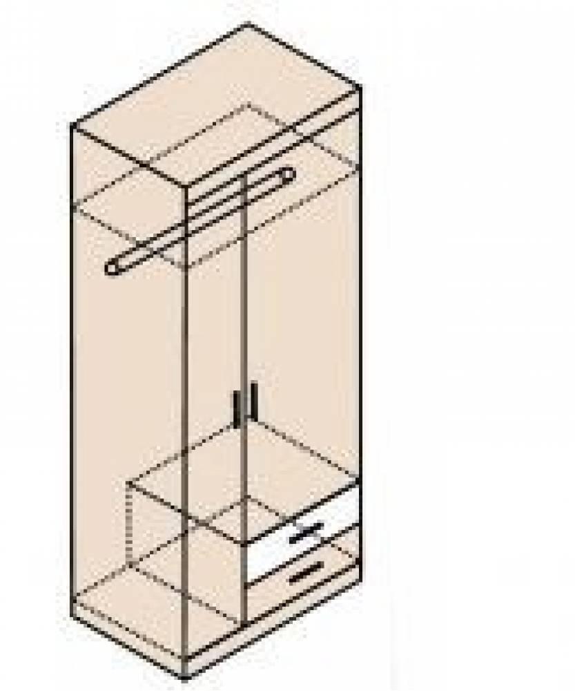 Ника Мод. Н10 Шкаф для одежды  (собирается на обе стороны)