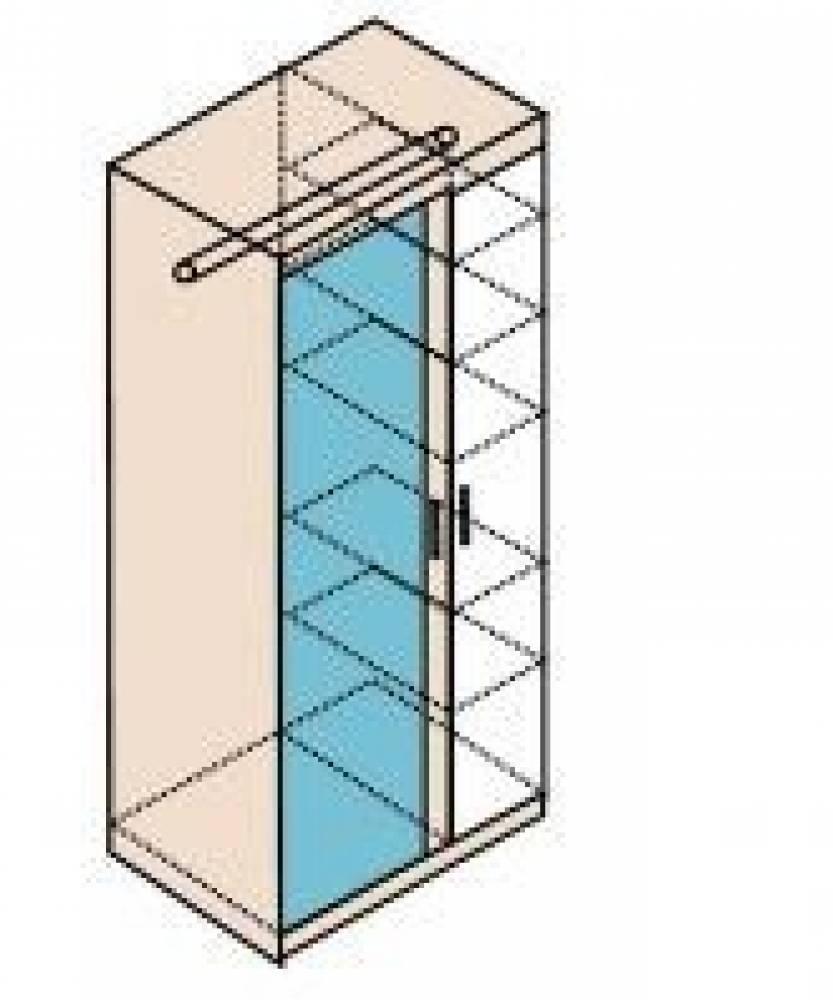 Ника Мод. Н11 Шкаф для одежды (собирается на обе стороны)