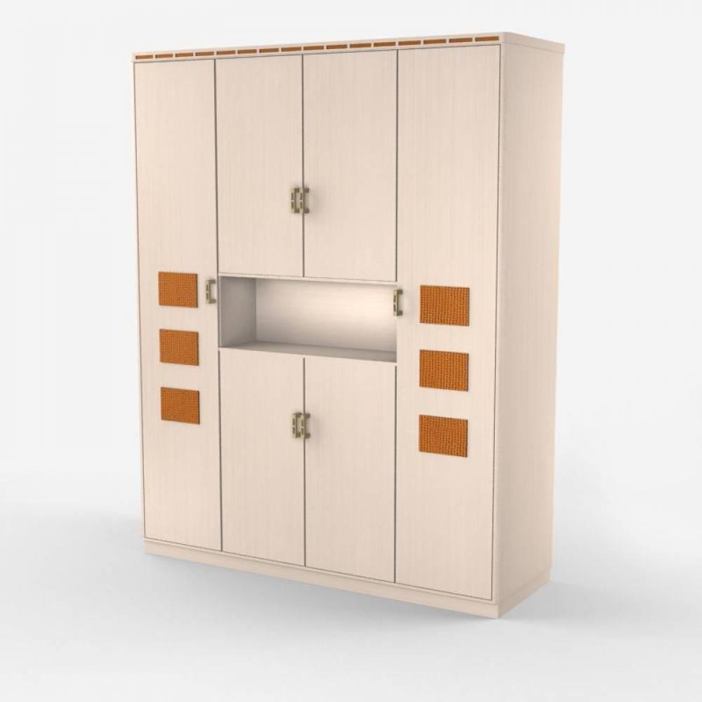 Кэри Голд Шкаф для одежды 4-х дверный с нишей. SALE