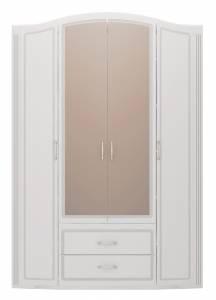 02 Шкаф для одежды 4-х дверный с ящиками (с зеркалами) Виктория