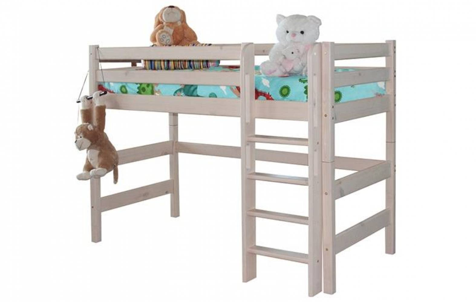 Полувысокая кровать СОНЯ 5 с прям лест Мебельград