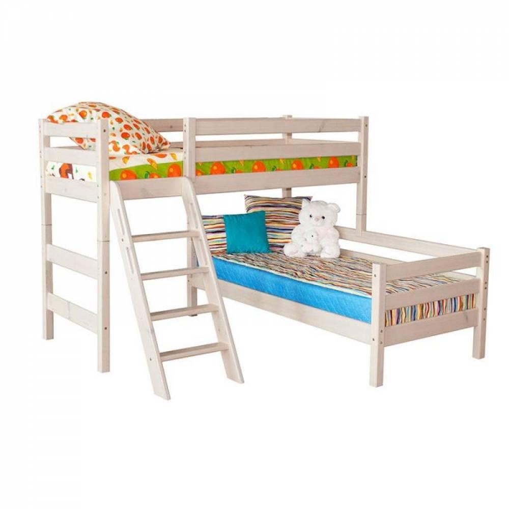 Угловая кровать СОНЯ 8 с накл лест Мебельград