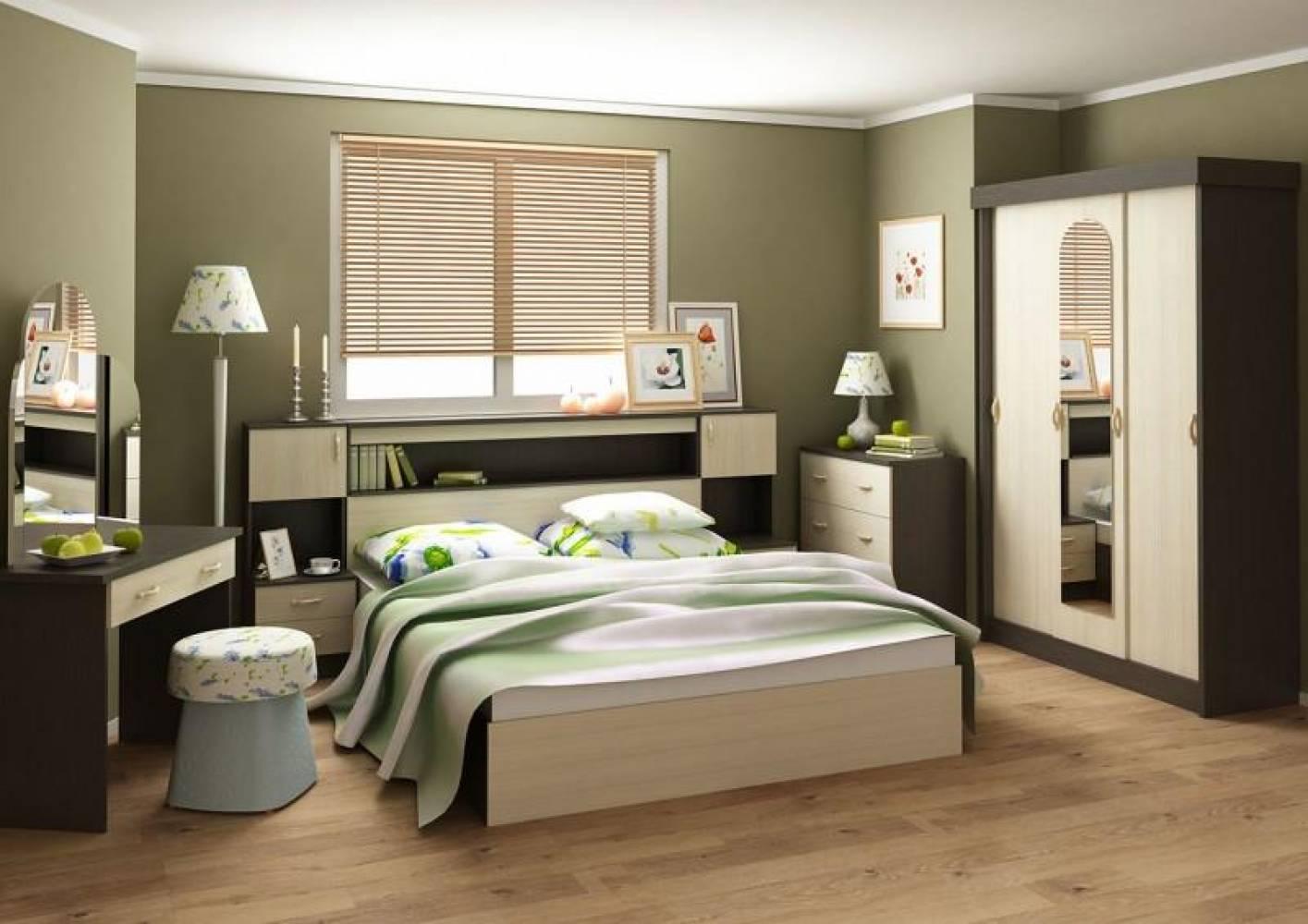 Спальня БАСЯ (Венге/Дуб Белфорд) Сурская мебель