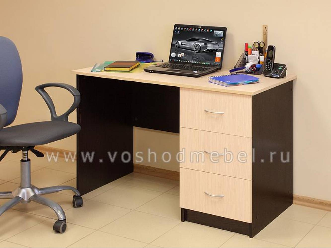 Компьютерный стол ПКС-3 (Венге/Дуб Молочный) Восход