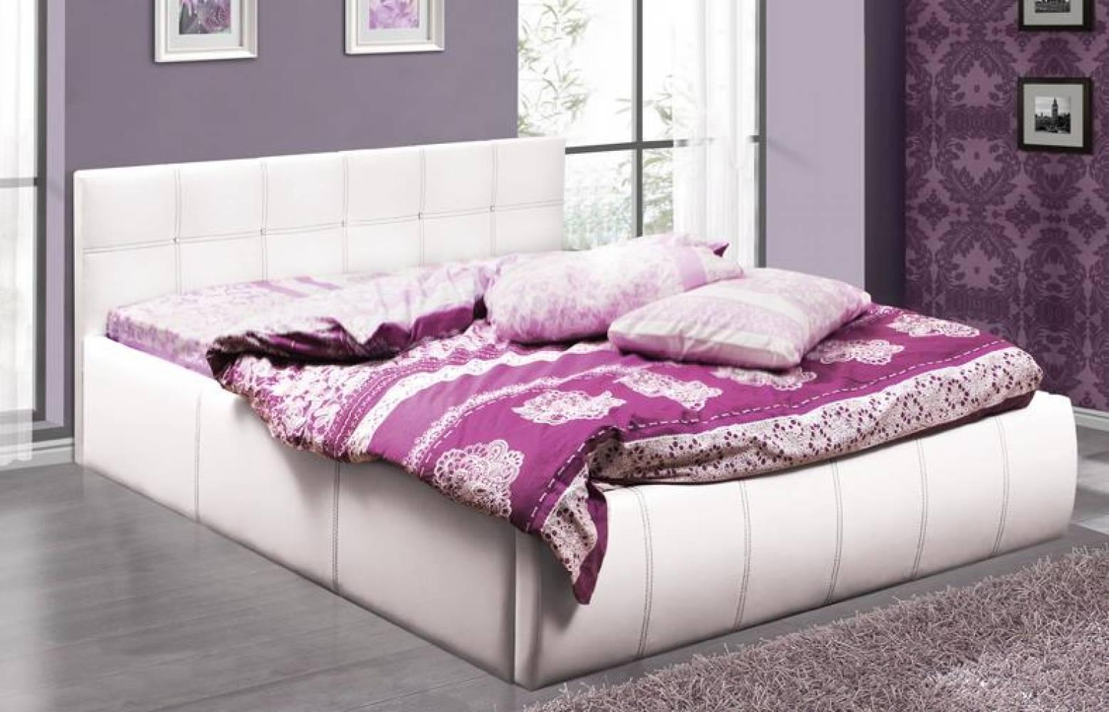 Кровать 1600 с подъемным механизмом ТРЕВИ-2 (Белый) Олмеко
