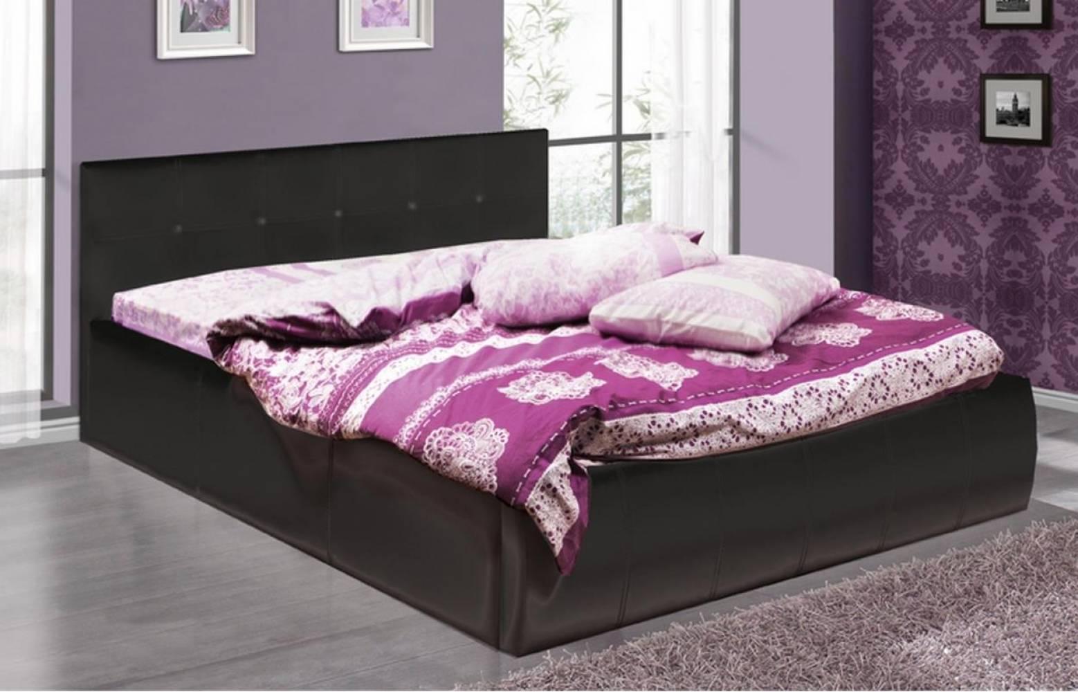 Кровать 1600 с подъемным механизмом ТРЕВИ-2 (Черный) Олмеко