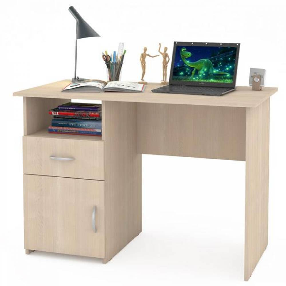 Компьютерный стол 11 СК КОМФОРТ (Дуб паллада) MOBI