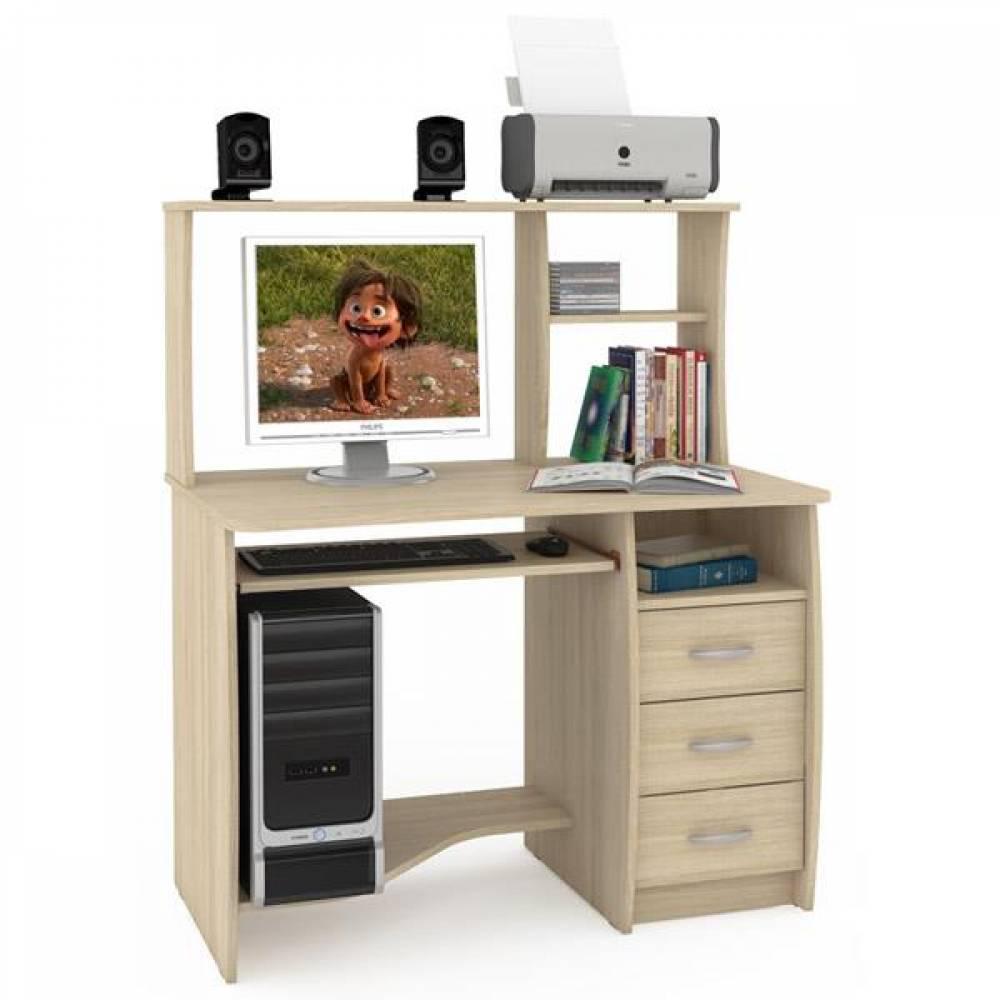 Компьютерный стол 4 КОМФОРТ (Дуб сонома) MOBI