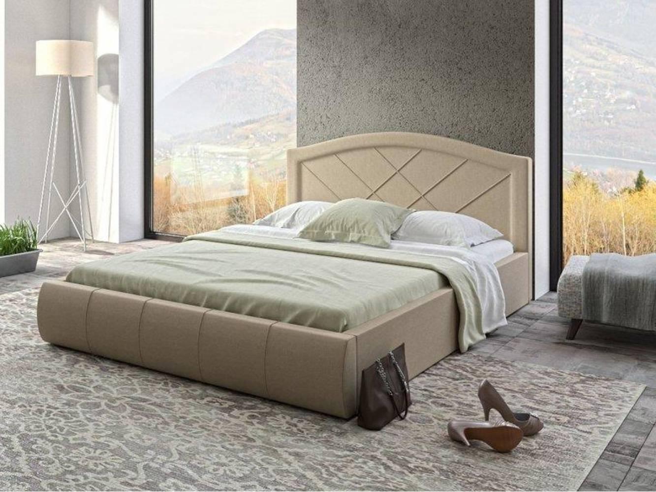 Кровать 1600 с подъемным механизмом ВИГО (Савана Кемел) Нижегородмебель