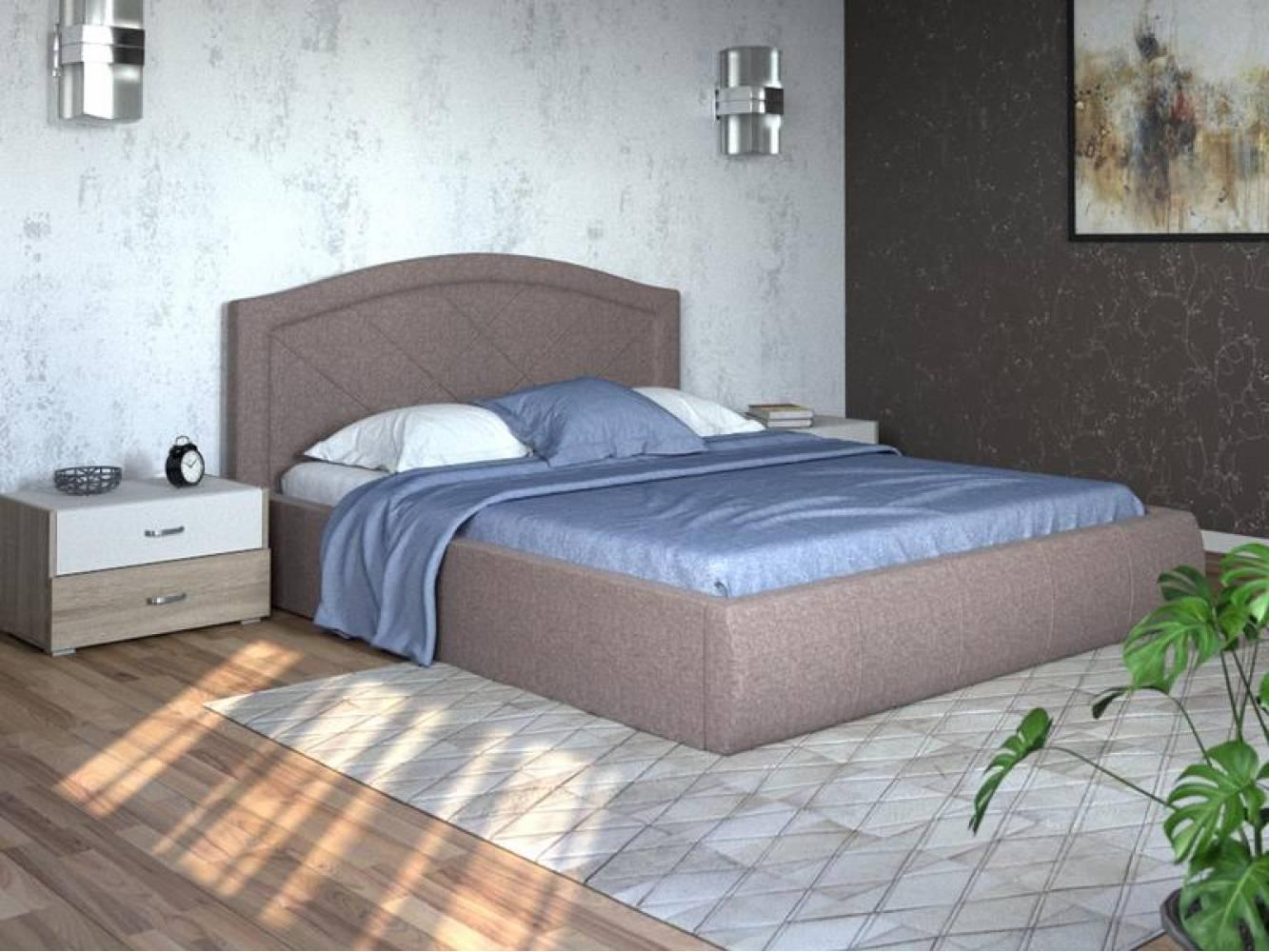 Кровать 1600 с подъемным механизмом ВИГО (Савана Латте) Нижегородмебель